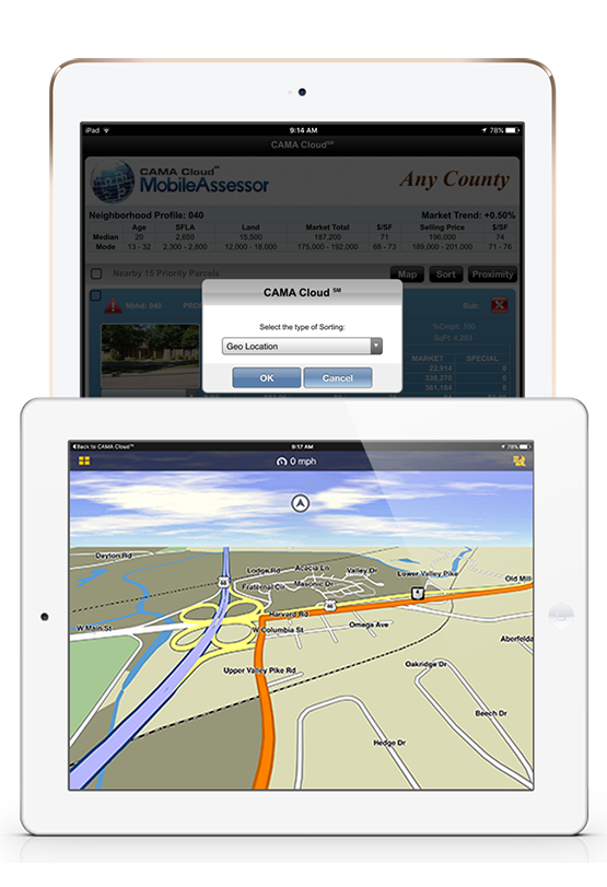 iPad displaying Dynamic Route SM.